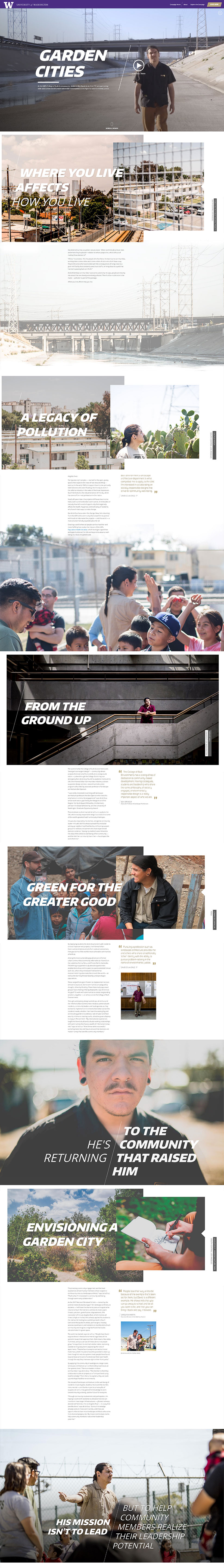 university of washington college of biult environment full site design