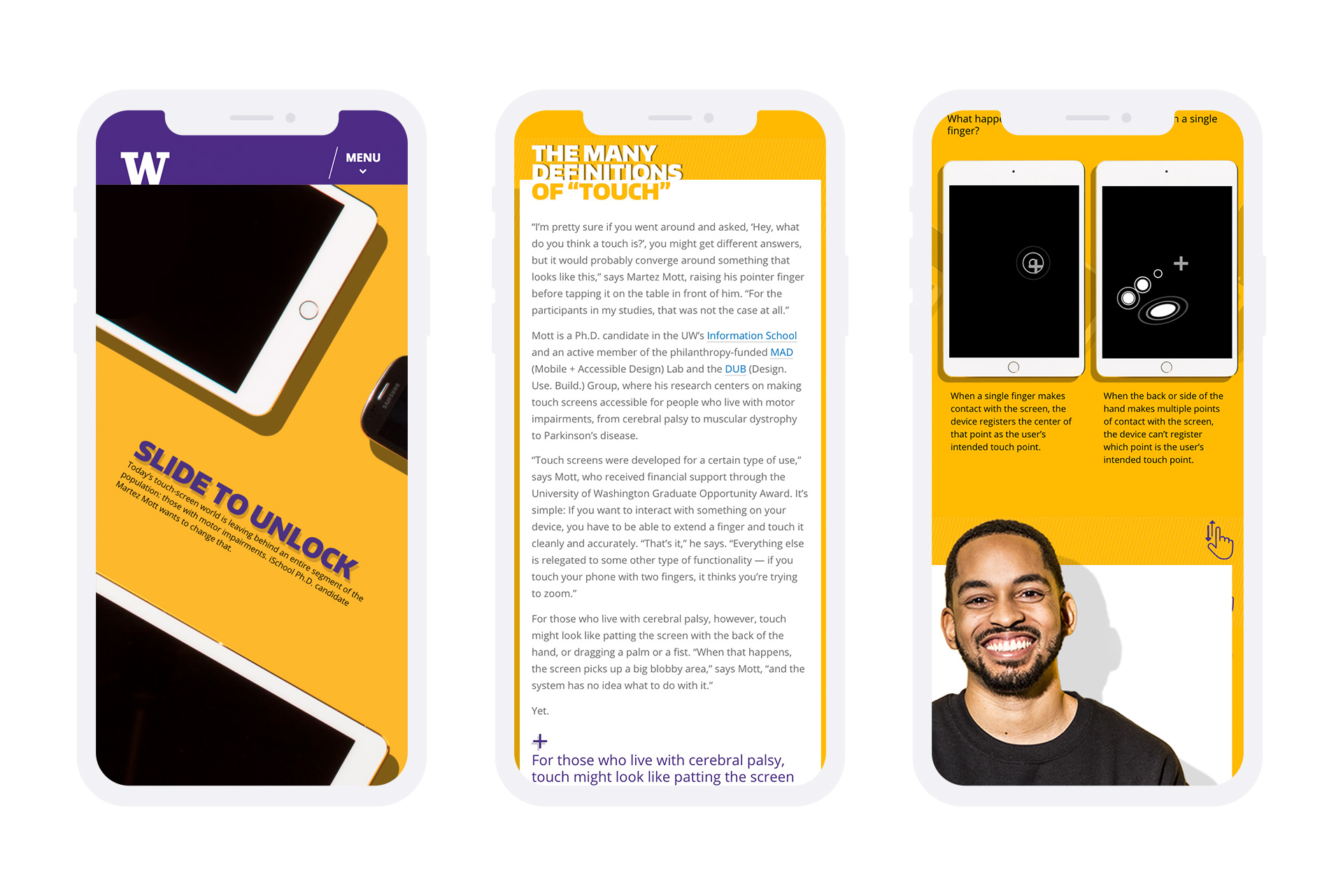 university of washington ischool website mobile mockup example 1