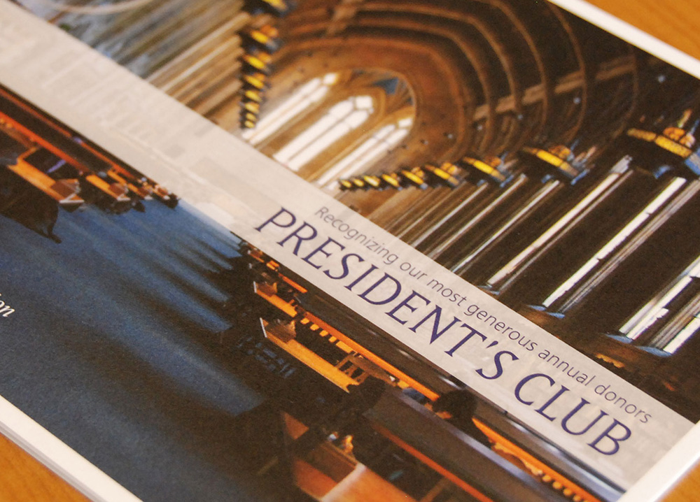 university of washington presidents club brochure thumbnail