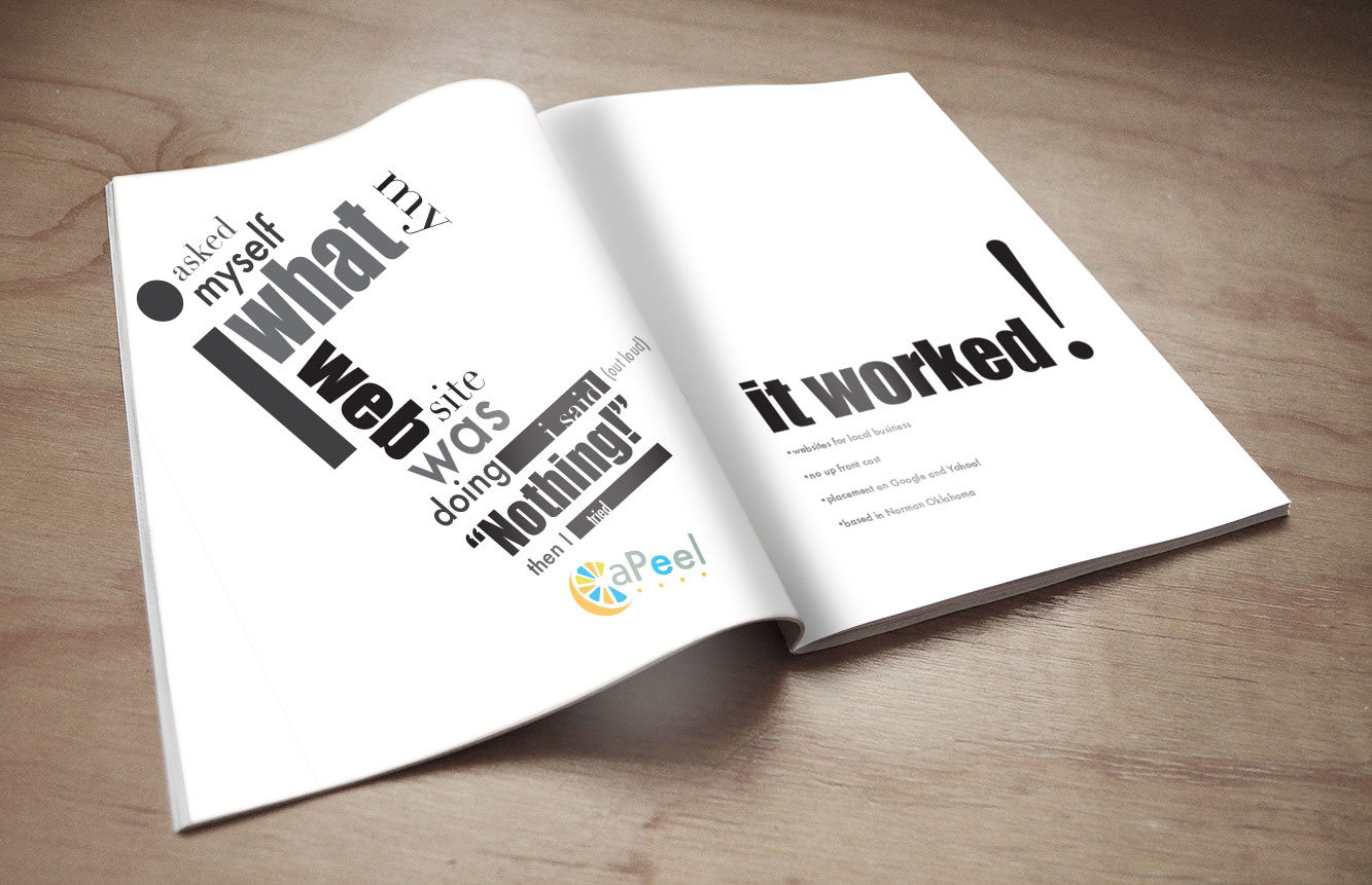 apeel design firm full page ad
