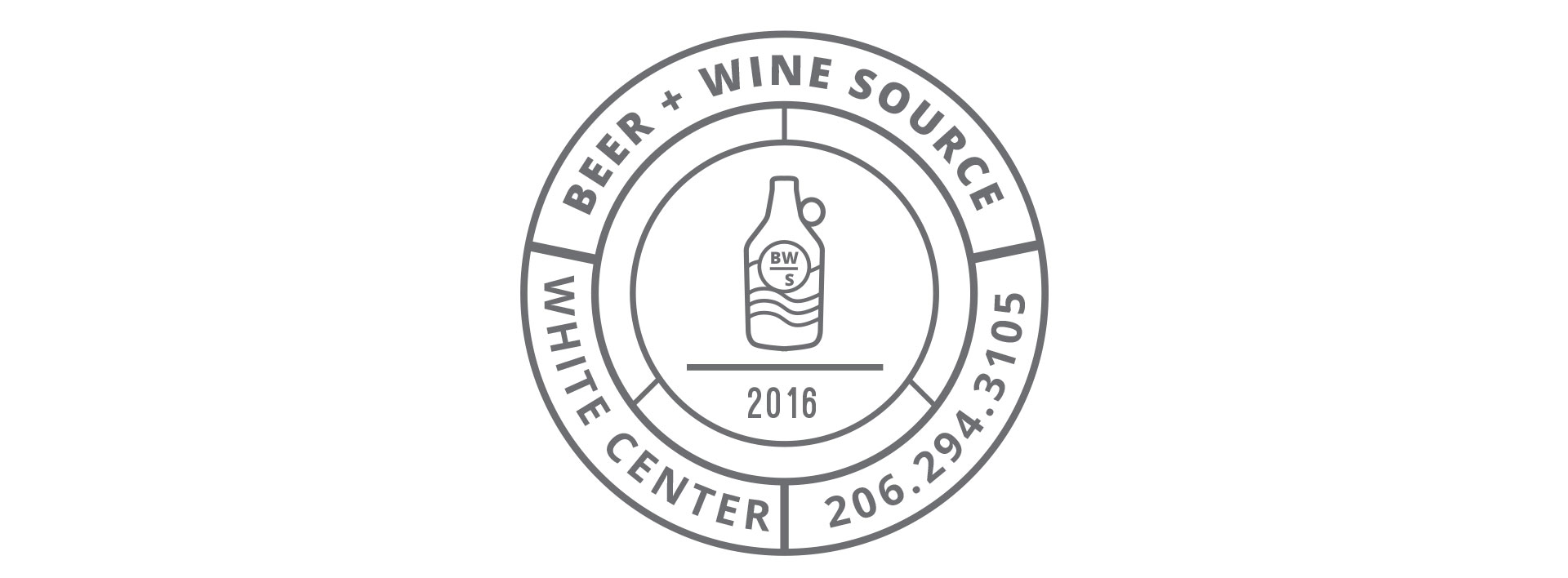 beer and wine source logo white center seattle