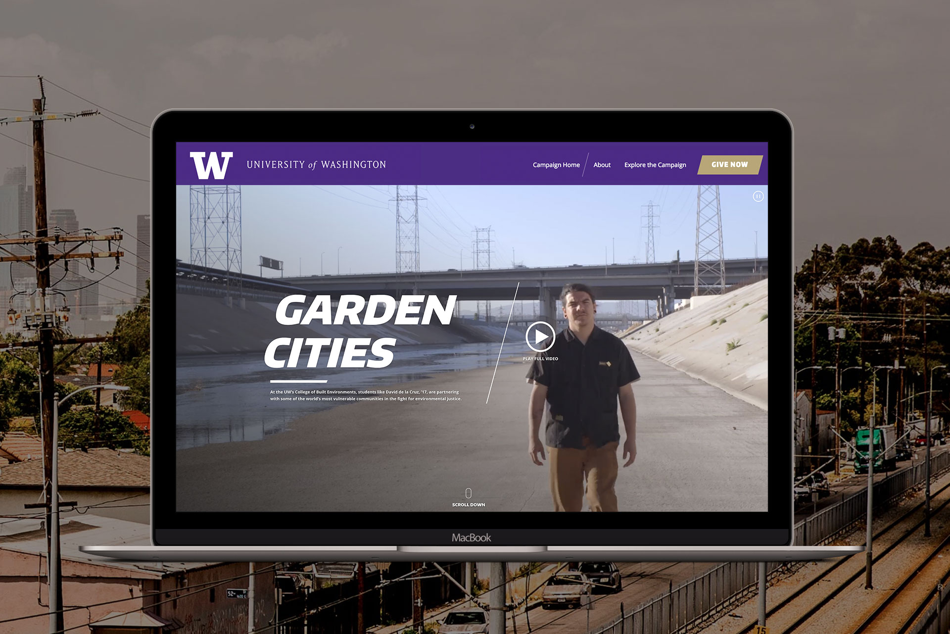 university of washington college of biult environment website mockup
