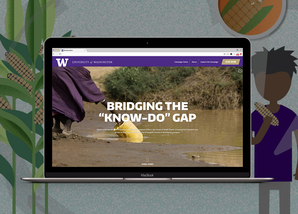 university of washington school of public health website design thumbnail