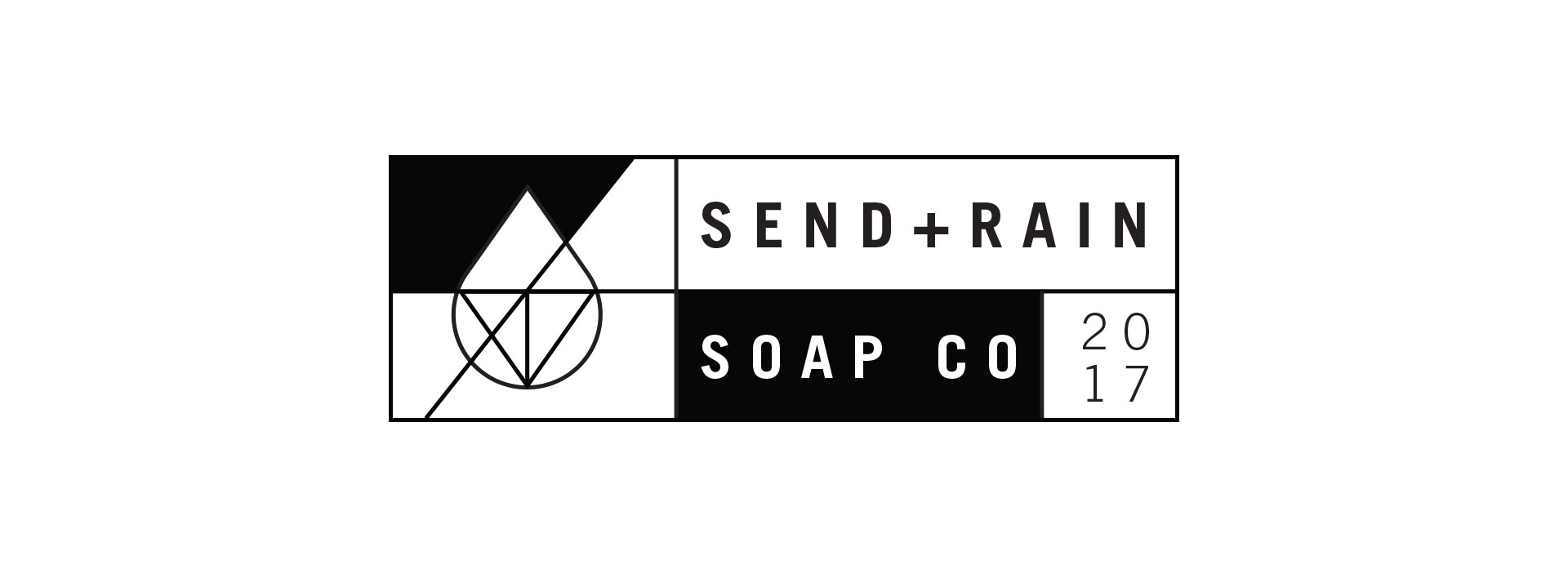Send Rain soap company logo design alternative