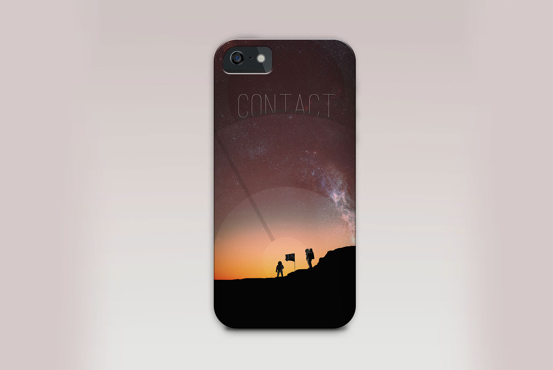 space walk exploration design phone case mockup