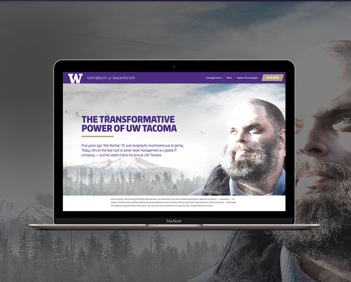 university of wahsington tacoma website design mac